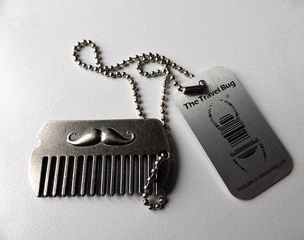 Geocaching, Sports, Game, Free Time, Keychain, Mustache