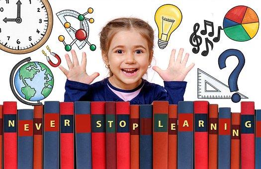 School, Learning, Graphic, Design, Girl, Child