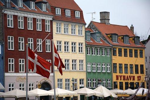 Copenhagen, Nyhavn, Historical, Danish, Exterior, Port