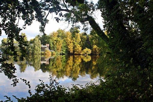 Eutin, Holstein Switzerland, Autumn Colours, Lake