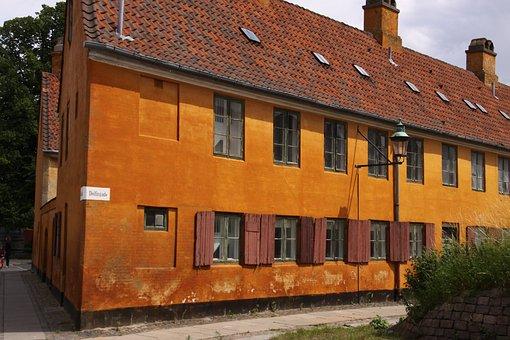 Nyboder, House, Yellow, Apartments, Denmark, Copenhagen