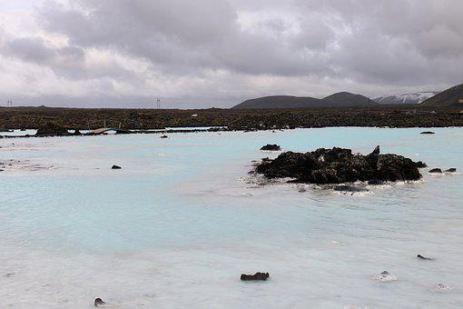 Iceland, Blue Lagoon, Blue, Water, Lagoon, Lake