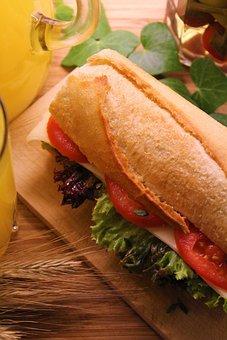 Roll, Sandwich, Meal, Lunch, Nutrition, Vegan