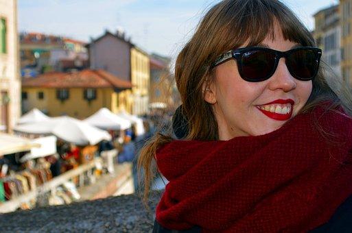 Girl, Milan, Navigli, Flea Market, Models
