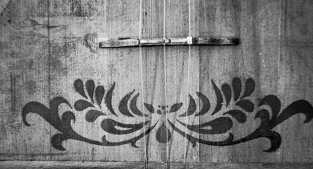 Monochrome, Bw, Balalaika, Black And White, Music
