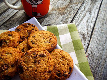 Cookies, Coffee, Rest, Picnic, Breakfast, Chocolate