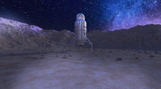 Space Travel, Ferry, Mars, Milky Way, Rocket