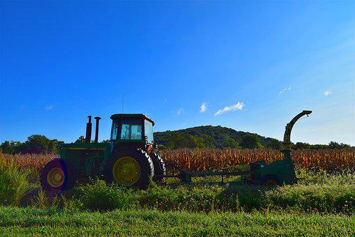 Tractor, Farm, Equipment, Agriculture, Field, Rural