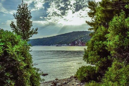 Beach, Landscape, Afternoon, Nature, Sky, Clouds, Sea