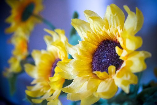 Sunflowers, Artificial, Flowers, Yellow