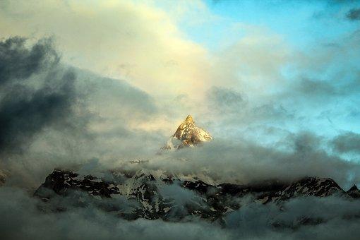 Peak, Mountain, Snow, Nature, Landscape, Travel, Sky