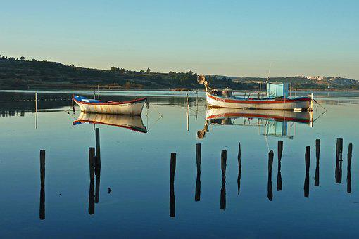 Boats, Pond, Water, Boat, Fishing, Lake, Calm, Nature