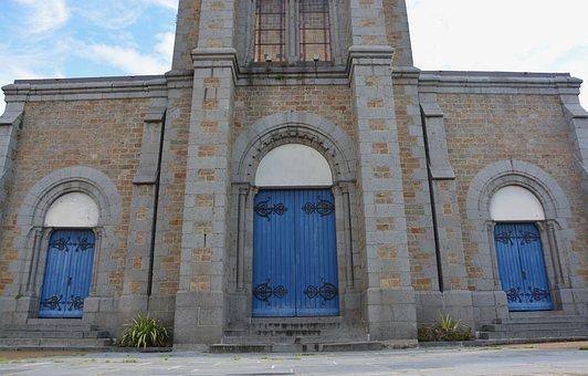 Church, Portal Church Of Rochebonne