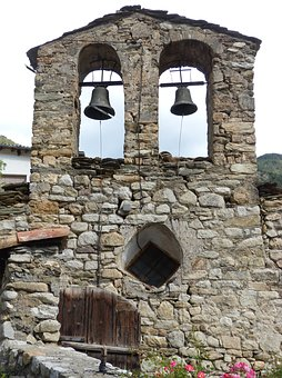 Church, Belfry, Romanesque, Ginast, Pyrenees, Campaigns
