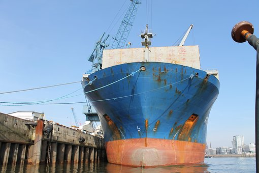 Port, Hamburg, Barges, Hanseatic, Hamburg Port, Elbe