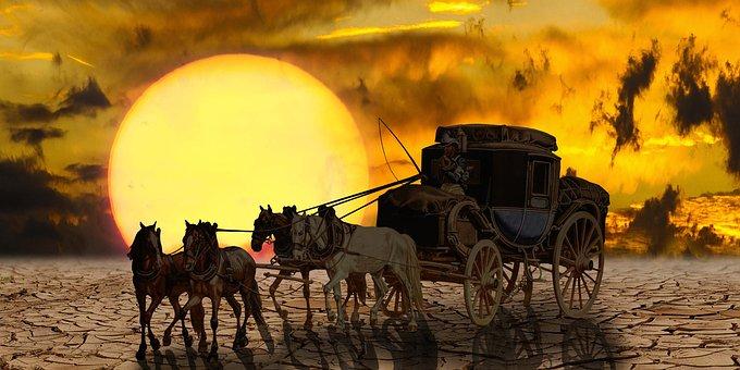 Transport, Fantasy, Coach, Horses, Stagecoach