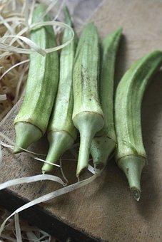 Lady Finger, Greens, Vegetables, Okra, Dietary Fiber