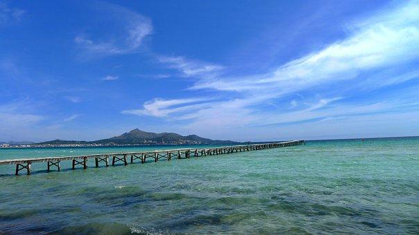 Sea, Sky, Blue, Water, Landscape, Nature, Web, Wide