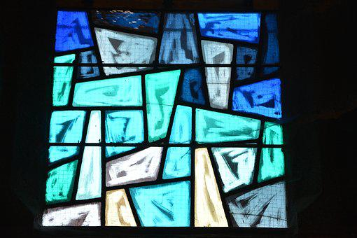 Stained Glass, Blue Color, Glass Color, Light, Art