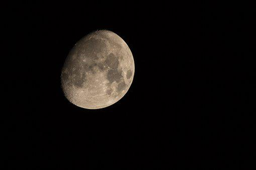 Moon, Increasingly, Moon Craters, Night