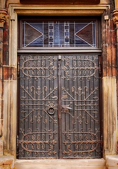 Door, Input, Iron, Fitting, Church, Wrought Iron, Old