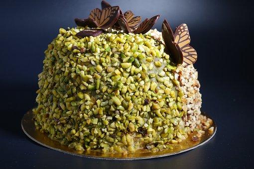Parfait, Pistachio, Hazel, Cake, Ice Cream