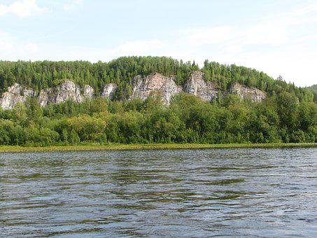 The Vishera River, Perm Krai, Sky, Russia, Silence