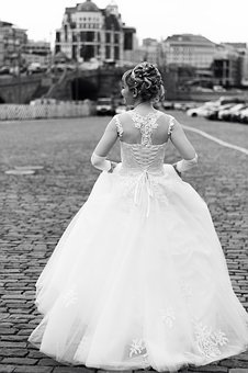 Wedding, Black And White, Love, Romantic, Marriage, Day