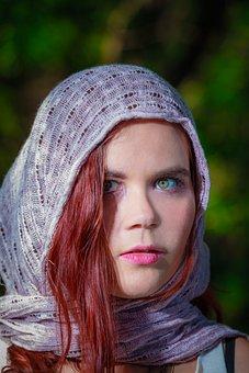 Gypsy Girl Model, Scarf Model, Local Townsville Girl