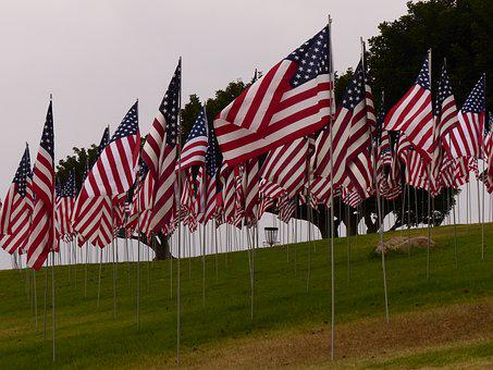 September 11, 9-11, Flags, Memorial, Remember