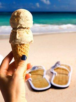 Ice, Summer, Delicious, Ice Cream Cone, Sky, Sea