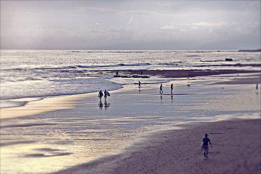 Bali, Echo Beach, Surfers, Beach, Surf