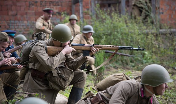 Soldiers, Attack, The Second World War, The Ussr