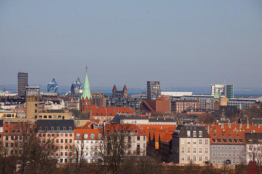 Copenhagen, Denmark, City, Take, View, Towers, Rooftops