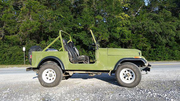 Jeep, Four Wheel, Vintage, Car, Vehicle, Automobile