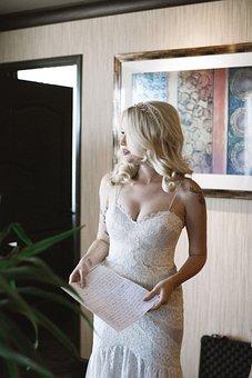Bride, Getting Ready, Wedding, White, Bridal, Fashion