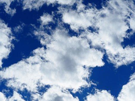 Sky, Clouds, Blue, W, Clouds Sky, White, Nature, Cloudy