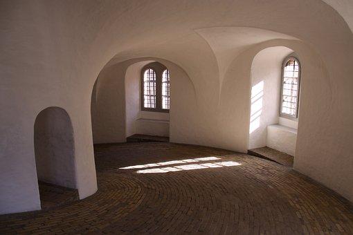 The Round Tower, Windows, Vault, Painted White