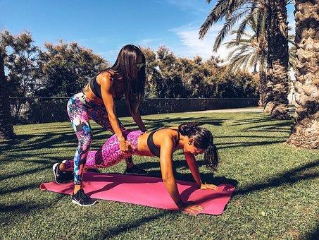 Exercise, Pushup, Crossfit, People, Body, Sun, Women