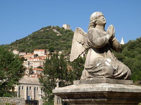 Lastovo, Church, Angel, Traditional, Cemetery