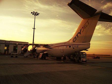 Cityjet, Paris, Avro Rj85, Sunrise