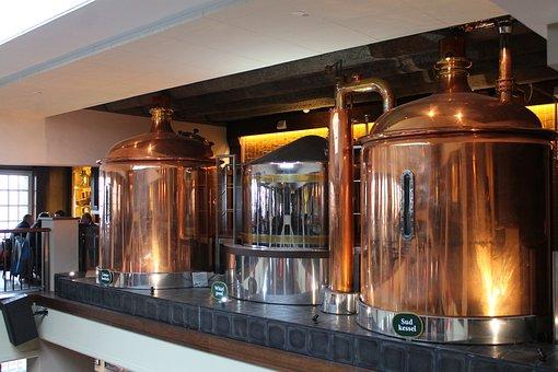 Brewery, Beer, Boiler, Copper, Brewery Boiler