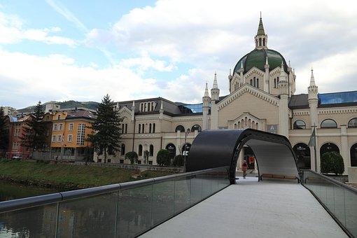 Bosnia, Hezegovina, Sarajevo, Bridge, Loop, Building
