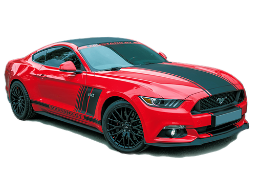 Ford Mustang, Red, Exempt And Edited, Brand, Automotive