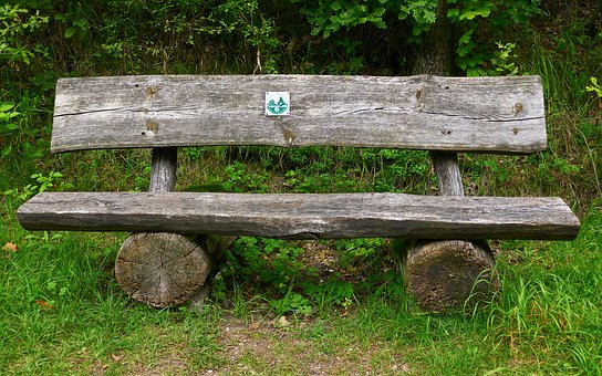 Bank, Wooden Bench, Tranquility Base, Bench, Click