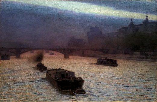 Alexander Gierymski, Evening On The Seine, Painting