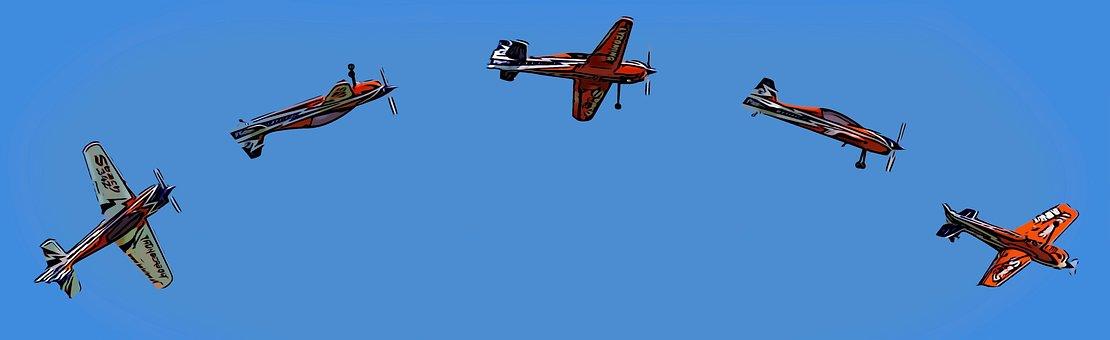 Planes, Sky, Blue, Airplane, Flight, Fly, Air, Aircraft