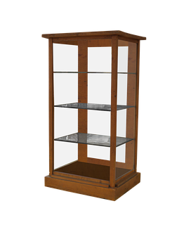 Furniture, Display Case, Glass Cabinet, Isolated