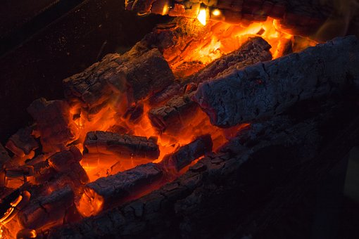 Fire, Coals, Hot, Red, Glow, Glowing, Burn, Wood, Flame