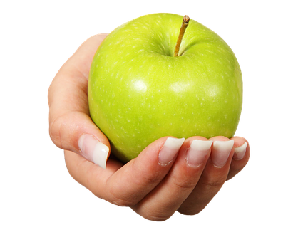 Apple, Fruit, Healthy, Hand, Offer, Grannysmith
